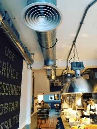 Air conditioning in restaurants